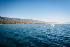 The Pacific Ocean, seen from Stearn's Wharf, in Santa Barbara, C Royalty Free Stock Photos