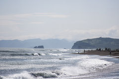 Pacific ocean. Shore on Kamchatka royalty free stock images