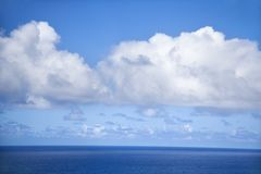 Pacific ocean and sky. Royalty Free Stock Photo