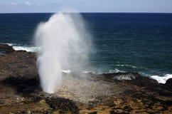 Pacific Ocean Spouting Horn, Hawaii Stock Photos
