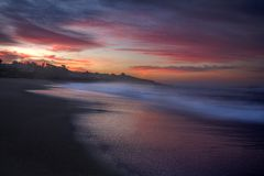 Pacific Ocean Sunrise royalty free stock images