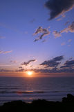 Pacific Ocean Sunset. Beautiful sunset over the pacific ocean Stock Images