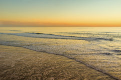 Pacific Ocean at Sunset, California Royalty Free Stock Image