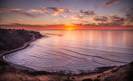 Pacific Ocean, sunset in California Royalty Free Stock Photography