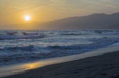 The Pacific ocean during sunset. Stock Images