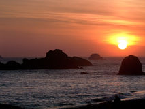 Pacific Ocean sunset near Crescent City California Stock Photos