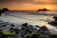 Pacific Ocean Sunset Stock Photography