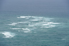 Pacific Ocean and Tasman Sea at Cape Reinga Royalty Free Stock Image