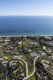 Pacific Ocean View Estates in malibu California Royalty Free Stock Images