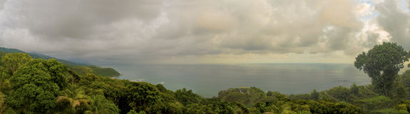 Pacific Ocean View. A lookout of the vast pacific ocean from the jungle of Costa Rica Royalty Free Stock Images