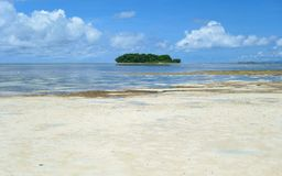 Pacific Ocean. View of the Pacific Ocean with the island of Siargao, Philippines Royalty Free Stock Photography