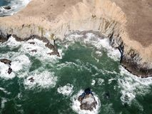 Aerial View of Rugged California Coastline Stock Photo