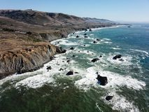 Aerial View of Northern California Coastline Stock Images