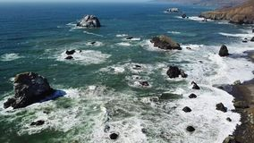 Aerial View of Northern California Coastline stock footage