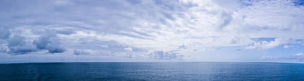 Pacific ocean waterscapes panorama near alaska Royalty Free Stock Images