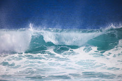 Pacific ocean wave crests and breaks royalty free stock photos