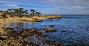 Free Pacific Ocean Waves Crashing On The Rugged Northern California Coastline In Monterey Stock Photo - 175010940
