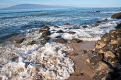 Pacific ocean waves on the island of Maui Stock Photography