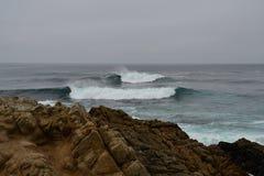 Pacific Ocean waves near the coast Stock Photo