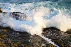 Pacific Ocean Waves on Rocks Stock Image