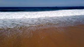 Pacific Ocean Waves Rolling Onto Beach, Australia stock footage