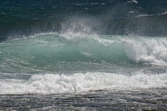 Pacific ocean waves on the shore Stock Photos