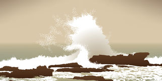 Pacific Ocean winter storm Royalty Free Stock Photo