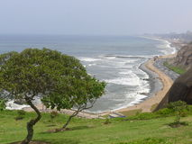 The Pacific Ocean from Yitzhak Rabin park in Miraflores Royalty Free Stock Photography