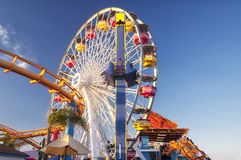 Pacific Park Santa Monica Pier California stock photography