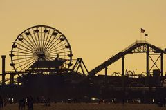 Pacific Park silhouette at sunset Royalty Free Stock Photos