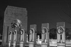 Pacific Pavilion of the World War II Memorial. Black-and-white image of the Pacific Pavilion of the National World War II Memorial in Washington, DC. Photo made Stock Images