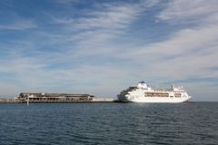 Pacific Pearl stopping over in Melbourne, Australia Royalty Free Stock Photos