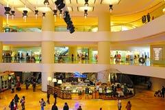 Pacific place arcade, hong kong. Visitors at the lobby of hong kong's popular shopping mall, pacific place located at admiralty Royalty Free Stock Photo