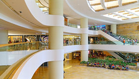 Pacific place shopping mall, hong kong royalty free stock photo