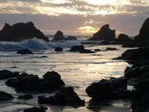 Pacific Rocks. Crashing surf on the rocky California coast Royalty Free Stock Photography