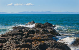 Pacific Rocky Shore Stock Photography