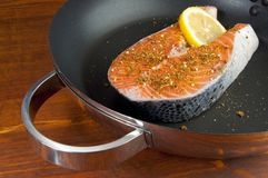 Pacific Salmon steak Stock Image