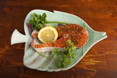 Pacific Salmon steak Royalty Free Stock Photography