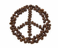Pacific sign made of coffee beans Royalty Free Stock Image