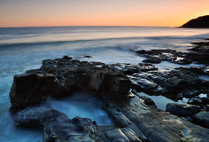 Pacific sunrise. Sunrise over Noosa on the Sunshine Coast in Queensland, Australia Stock Images