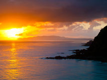 Pacific Sunrise. Sunrise Above the Pacific Ocean seen from Cape Reinga, North Island, New Zealand Royalty Free Stock Photography