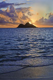 Pacific sunrise in hawaii Stock Image