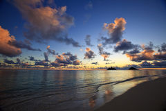 Pacific sunrise at lanikai beach, hawaii Royalty Free Stock Image