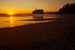 Pacific Sunset Royalty Free Stock Photos