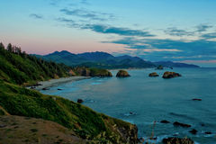 Pacific Sunset (Ecola State park in Oregon) Royalty Free Stock Images