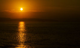 Pacific sunset Royalty Free Stock Photography