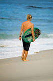 Pacific Surfer. Surfing in San Diego, sourthern California, USA Stock Photo