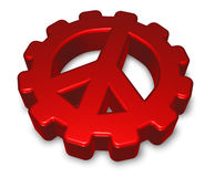 Pacific symbol in gear wheel Royalty Free Stock Image
