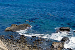 Pacific Tide Pools. Tide pools along the Pacific Ocean Stock Photo