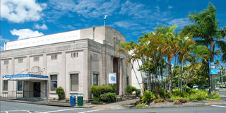 Pacific tsunami museum in Hilo Big Island Hawaii Stock Photography